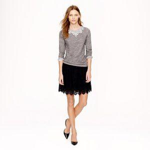 J Crew Scalloped Lace Skirt